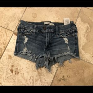 Abercrombie & Fitch Low Rise Jean Shorts